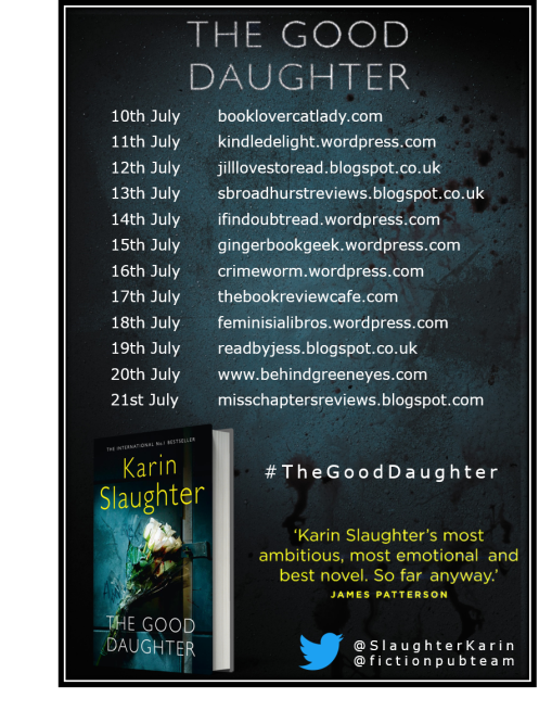 The Good Daughter blog tour banner