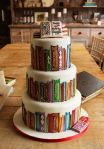 library-cake-library-books