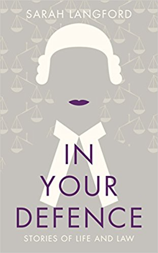 Jacket cover for In Your Defence by Sarah Langford
