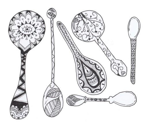 spoon art.