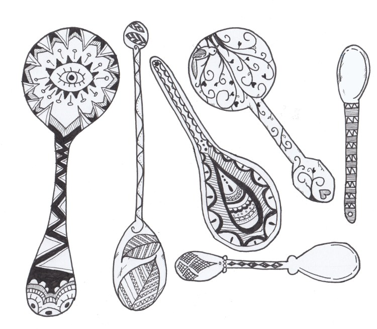 spoon art.