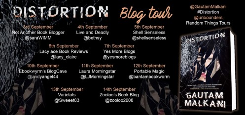 Distortion Blog Tour Poster