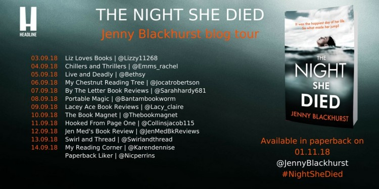The Night She Died Blog tour poster