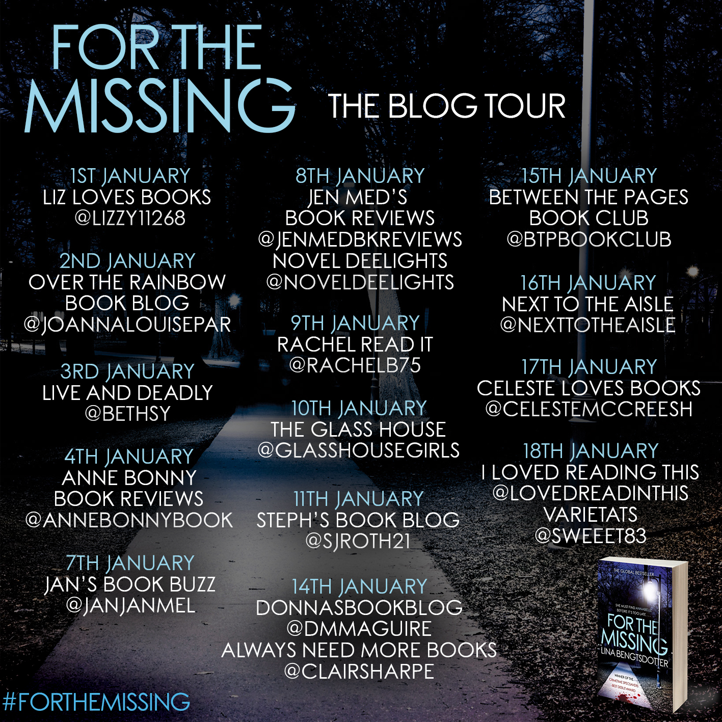 Blog tour dates and hosts