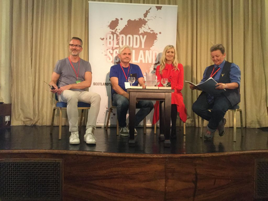 Thomas Enger, Kjell Ola Dahl and Sif Sigmasdottir with Jacky Collins aka Dr. Noir